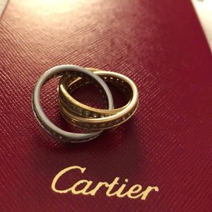 Cartier Tricolor Rolling Ring